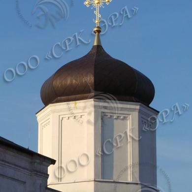 Изготовление креста на центральный купол Успенского храма